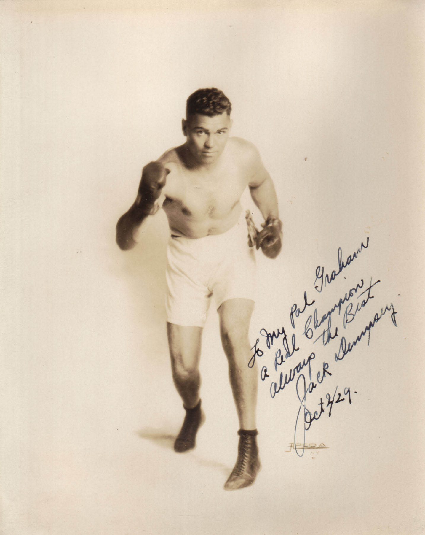 Jack Dempsey World Heavyweight Champion 1919