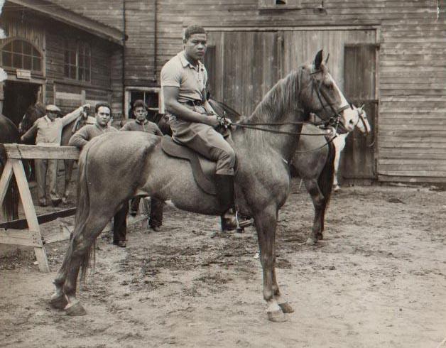 Joe Louis horseback