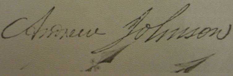 Andrew Johnson Stamped Signature